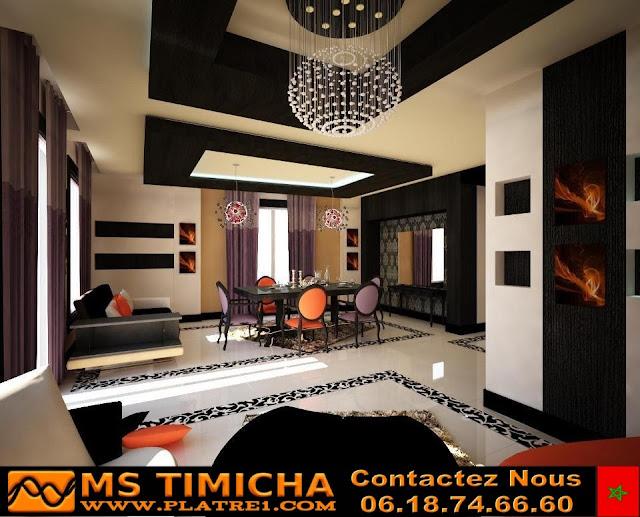 Decoration platre plafond et mur maroc