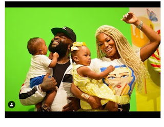Checkout Adorable Photos Of Rick Ross, His Girlfriend And Their Children