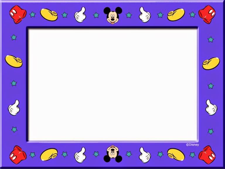 Mickey and Friends Free Printable Cards, Invitations or Frames. | Oh ...