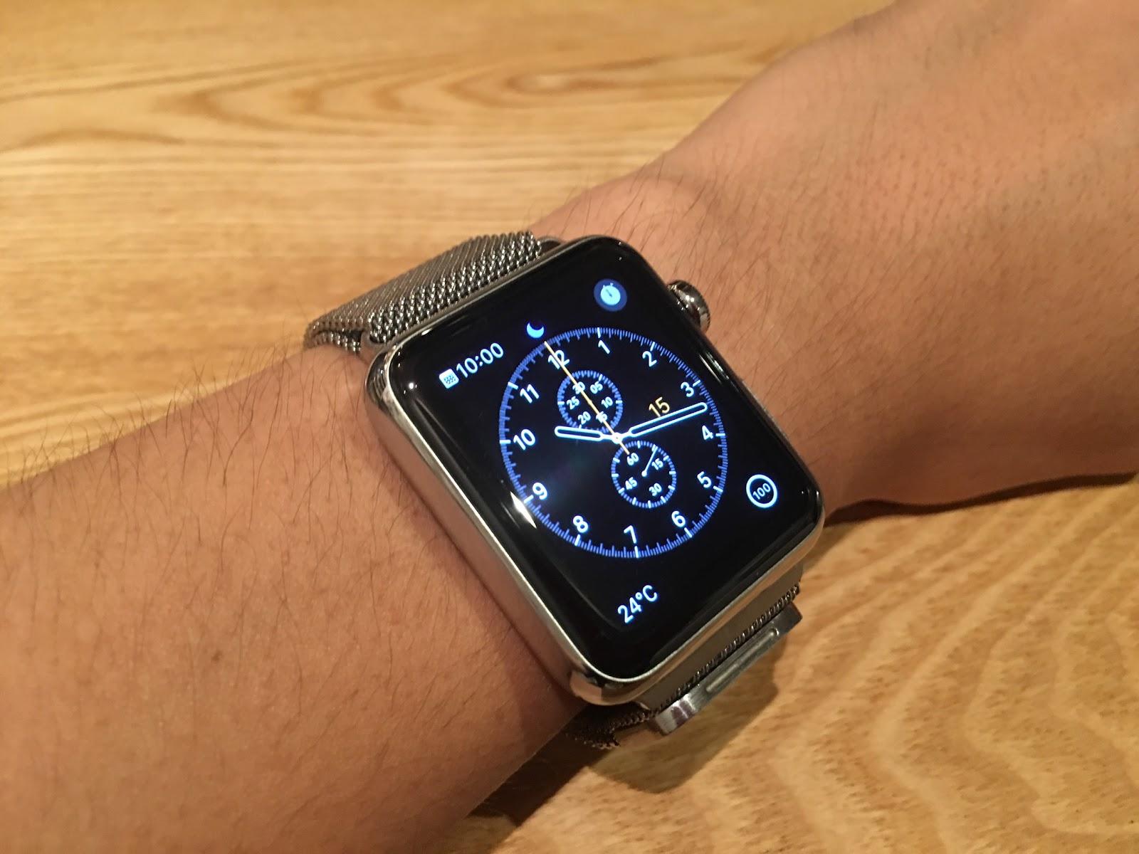 apple watch(初代)とpebble time steel|キックコネクト