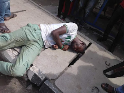 NYSC Member Urinates On Self After Collapsing In Lagos (Pics)