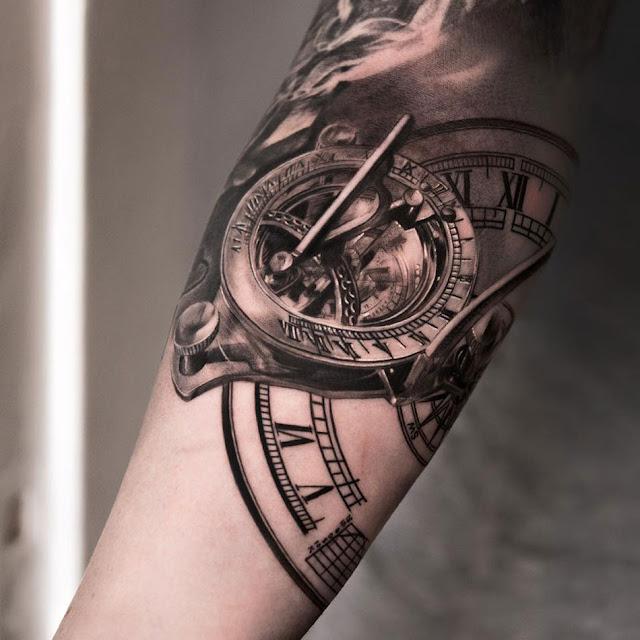 Top 101 mẫu hình xăm đồng hồ cổ nhỏ & đẹp từ thời la mã