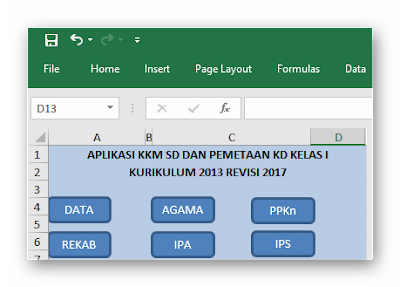 Aplikasi KKM SD K13 Edisi Revisi dan Pemetaan KD 2017