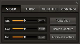 GOM Player Control Panel