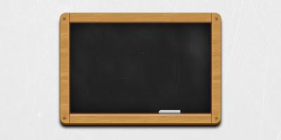 Wooden Black Chalkboard Icon (PSD)