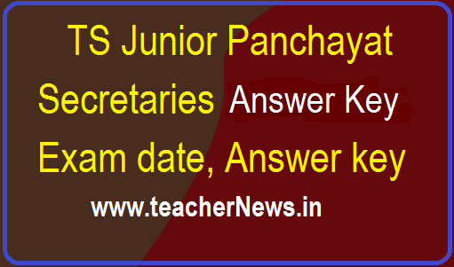 TS Junior Panchayat Secretary Answer Key 2018 – Paper 1 & 2 Question Paper with Solutions