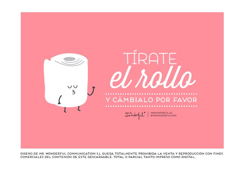 Descargable Mr Wonderful Tírate el rollo y cámbialo por favor