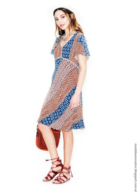 Vestidos primavera verano 2017 Asterisco. Moda verano 2017 vestidos cortos estampados.