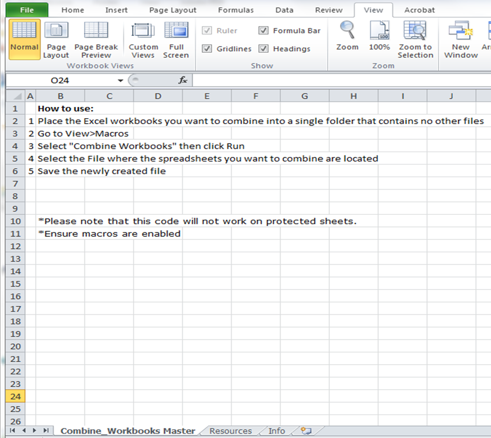 Workbooks macro to combine worksheets : Excel Spreadsheets Help: September 2013