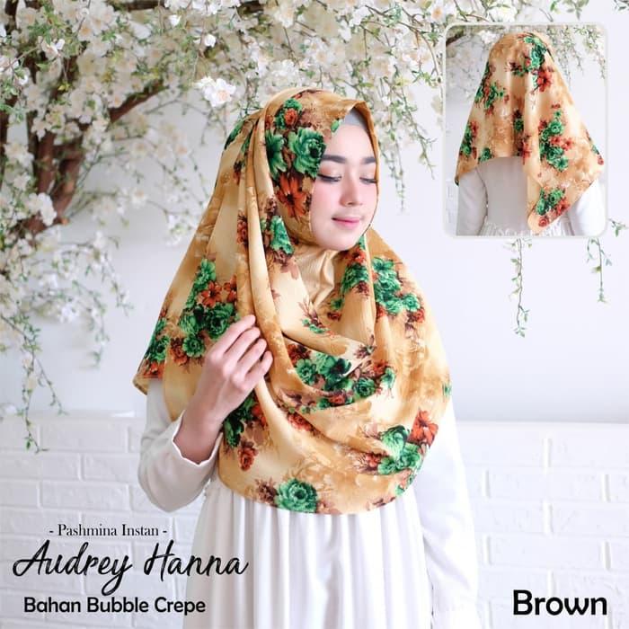 Jilbab Pashmina Instan Audrey Warna Kuning