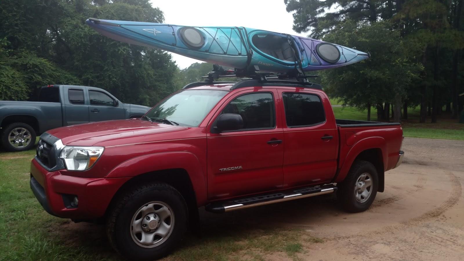 jaylow kayak carrier on a toyota tacoma