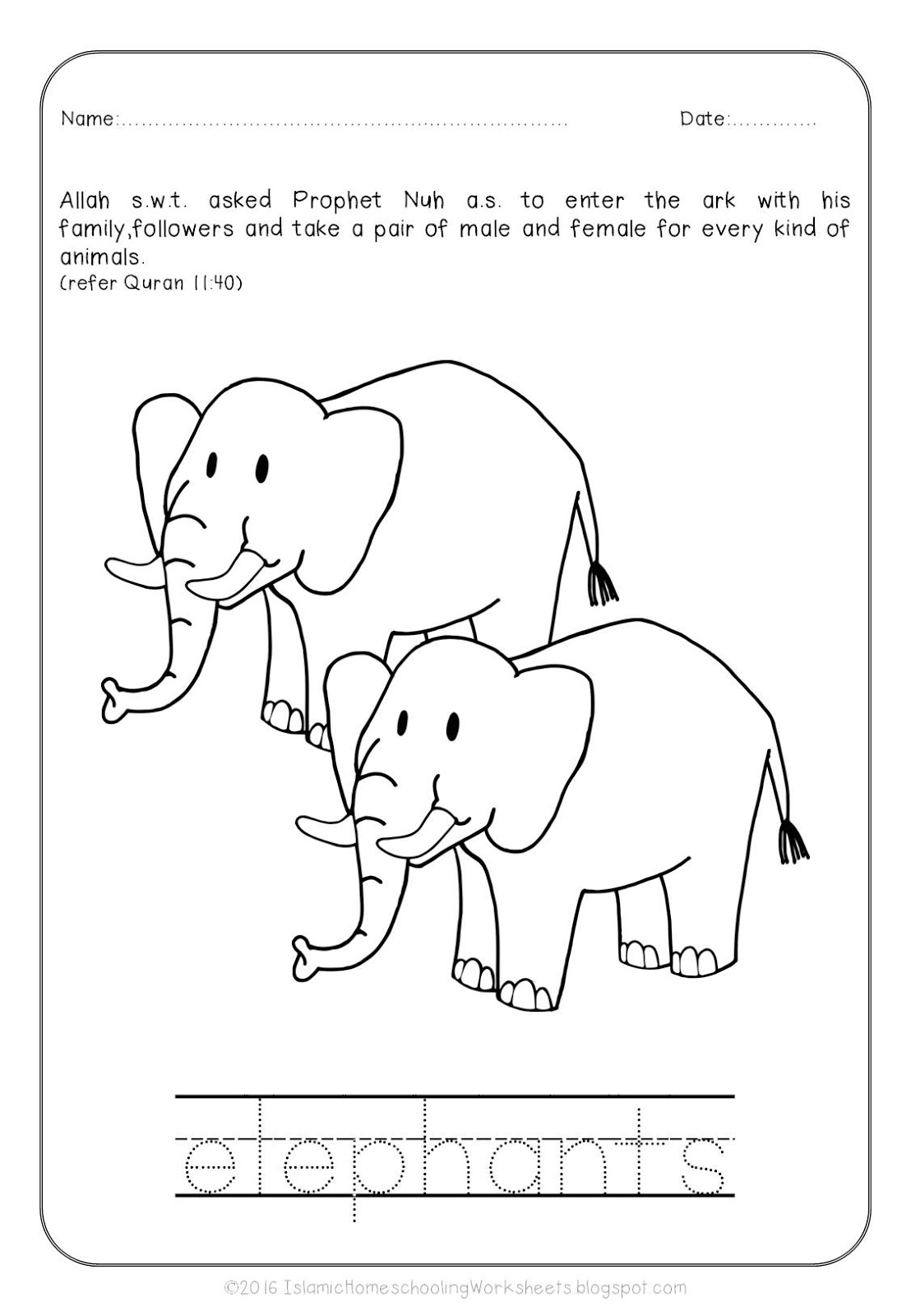 Free Islamic Coloring Sheets Prophet Nuh And The Ark