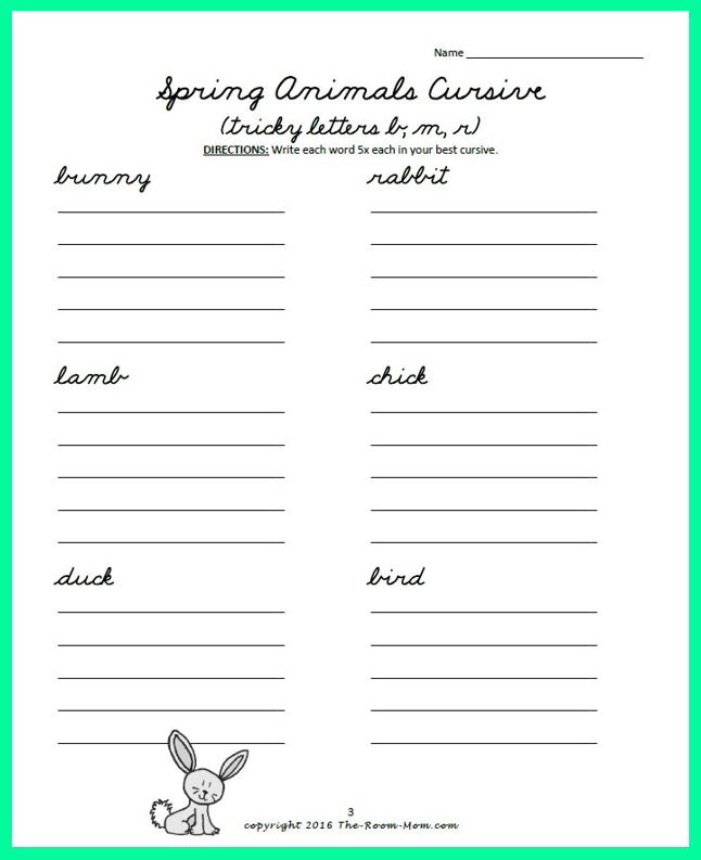 Use This Spring And Easter Cursive Handwriting Freebie To Help Students Reinforce Those Letters The Pages Practice Lowercase Capital