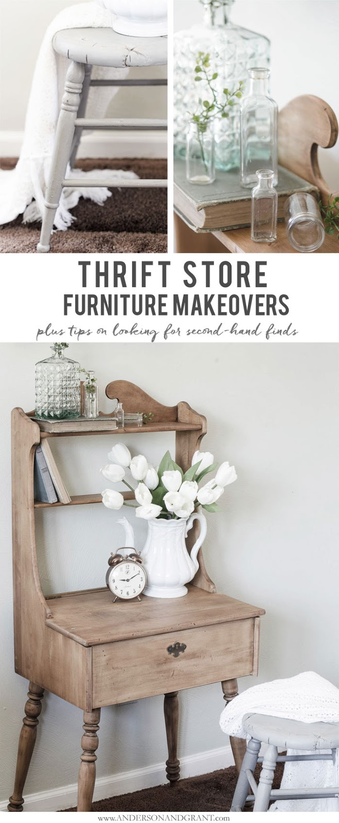 Farmhouse Style Desk And Stool Anderson Grant
