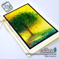 Stampin' Up! Brusho Crystal Colour Techniques with Sheltering Tree SU order from Mitosu Crafts UK Online Shop