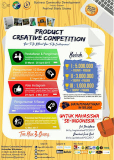 Product Creative Competition 2017 di Universitas Widyatama