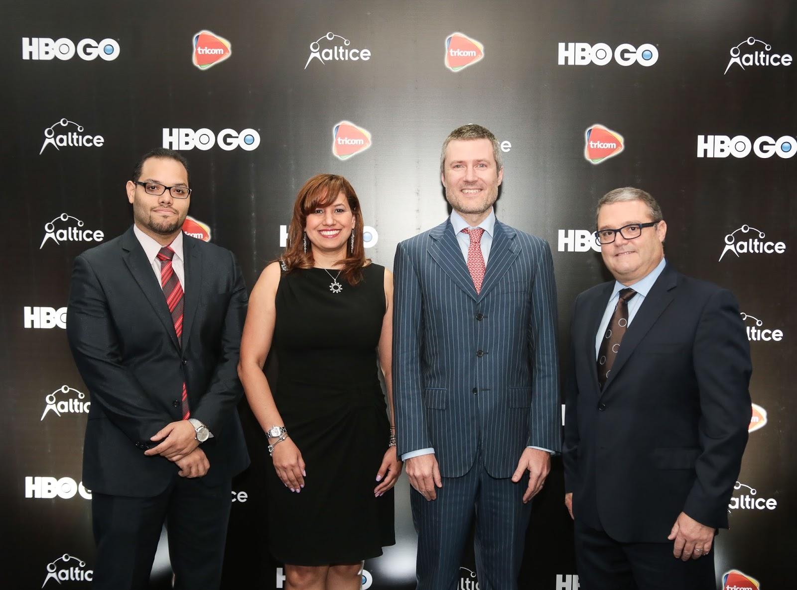 Manuel Mueses, Rosario Veras, Martin Roos y Javier Figueras. Altice