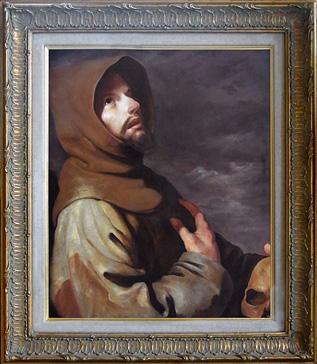 St.Francis Meditating, Zurbarán