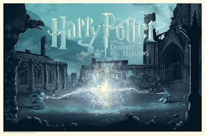 Harry Potter and the Deathly Hallows Variant Screen Print by Stan & Vince x Dark Hall Mansion