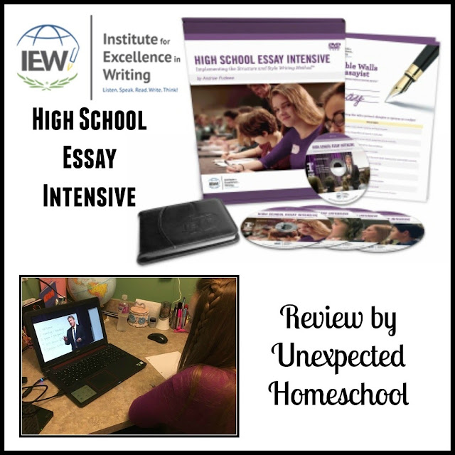 Review of High School Essay Intensive from the Institute for Excellence in Writing
