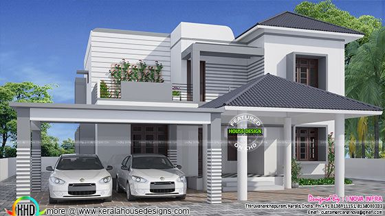 March 2016 kerala home design and floor plans for Elegant home design