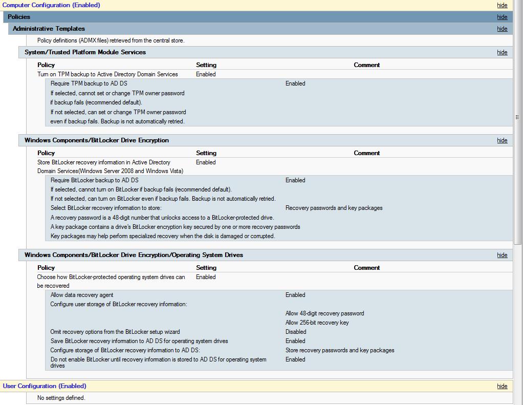 Electronics & Computing: Setting Up Bitlocker Using SCCM