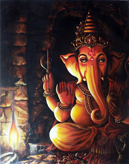 lord ganesha painting modern images