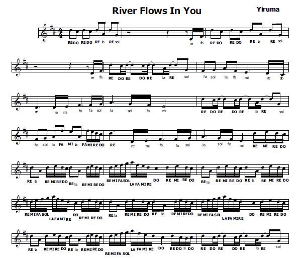 Preferenza Musica e spartiti gratis per flauto dolce: River Flows in you WZ66