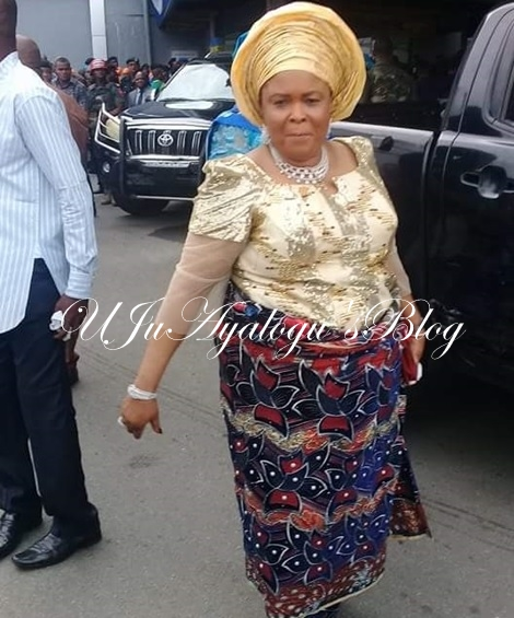 Ex-First Lady, Patience Jonathan All Smiles as She Steps Out Looking Gorgeous for Rivers Women's Day (Photos)