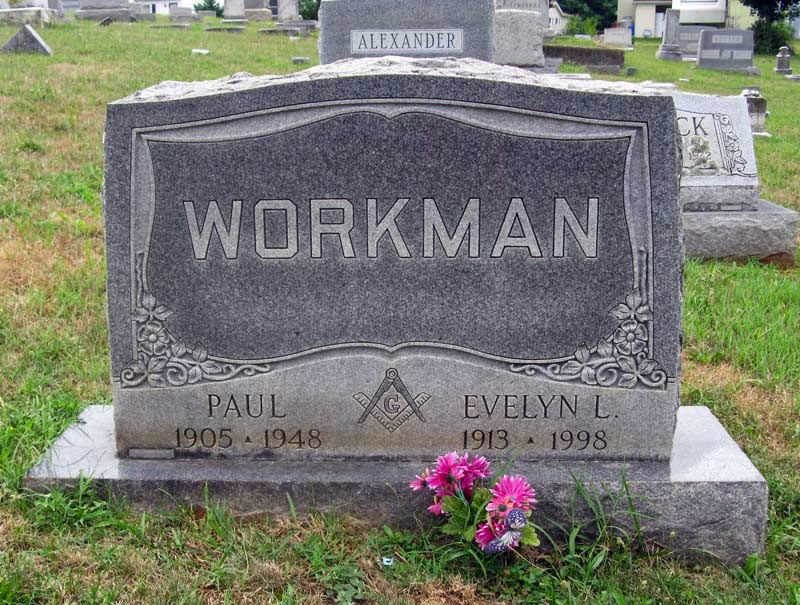 Tombstone Paul Workman and Evelyn L. Workman Singleton http://jollettetc.blogspot.com