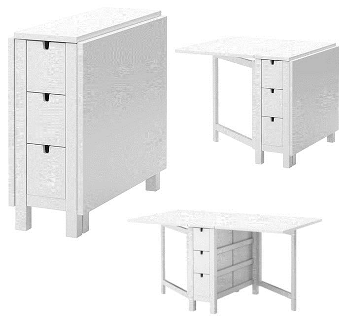 Sewing cutting and storing table for small spaces for Small craft table with storage