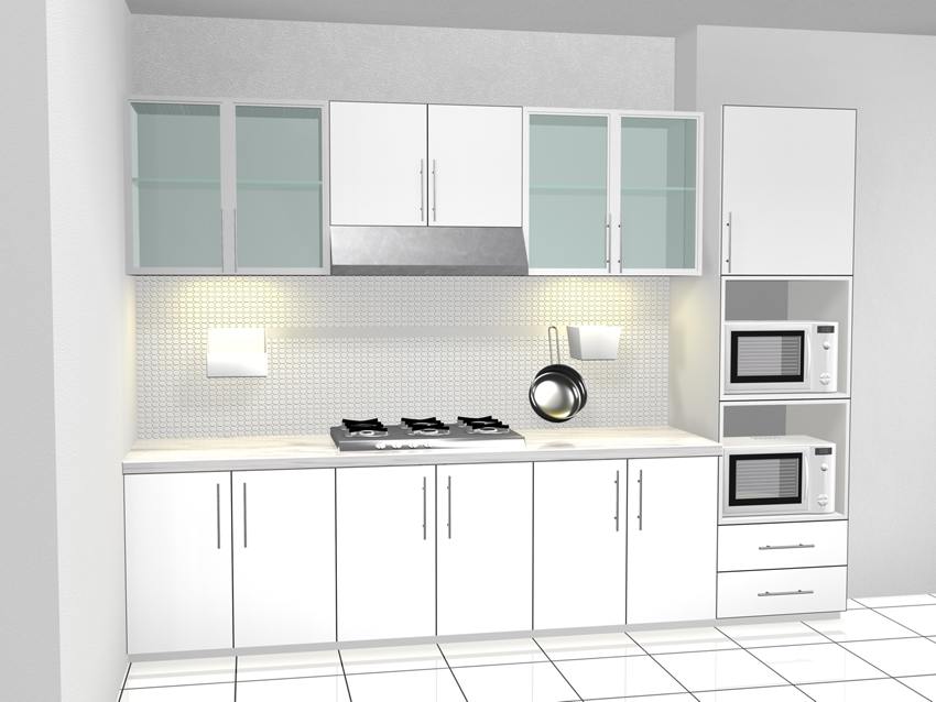 391 All New Kitchen Set Jendela Putih