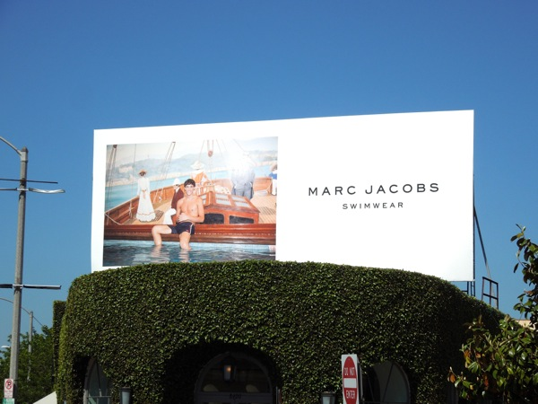 Marc Jacobs mens swimwear billboard 2012