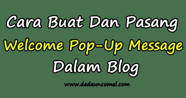 cara, letak, pasang, pop-up, dalam, blog