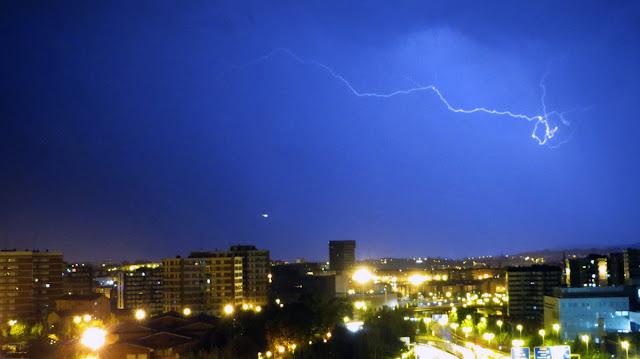 tormenta sobre Barakaldo
