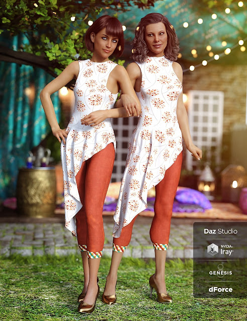 dForce Casual Spring Outfit for Genesis 8 Female