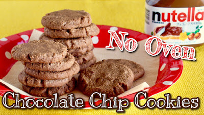 No Oven! Nutella Chocolate Chip Cookies