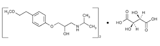 Metoprolol tartrat yaitu penghambat beta adrenergik dengan acara selektif pada adreno Metoprolol