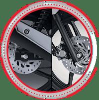 Front & Rear Disc Brake HONDA SUPRA X 125 CW 2018 Anisa Naga Mas Motor Klaten Dealer Asli Resmi Astra Honda Motor Klaten Boyolali Solo Jogja Wonogiri Sragen Karanganyar Magelang Jawa Tengah.