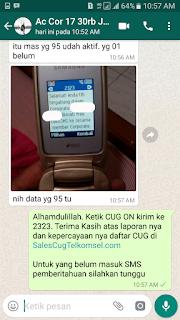 Testimoni Sales CUG Telkomsel 13 Desember 2017