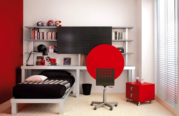 20 best cool trendy teenager boys bedroom designs ideas - Black white and red bedroom decorating ideas ...