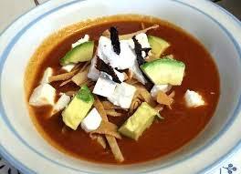 como preparar sopa azteca con frijoles