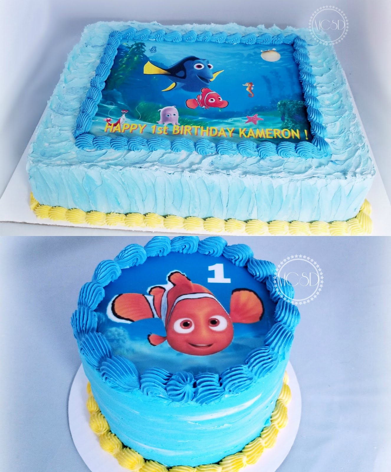 Enjoyable Cakesbyzana Finding Nemo 1St Birthday Cake Smash Cake Funny Birthday Cards Online Elaedamsfinfo