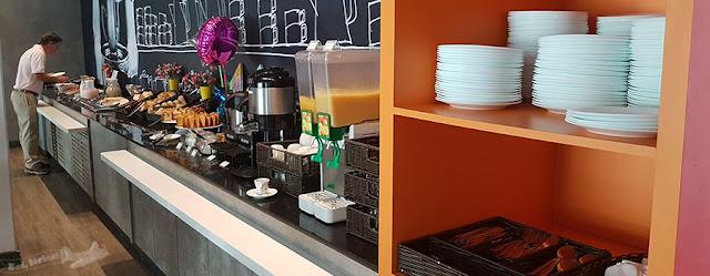 Café da manhã no Ibis Budget Aracaju