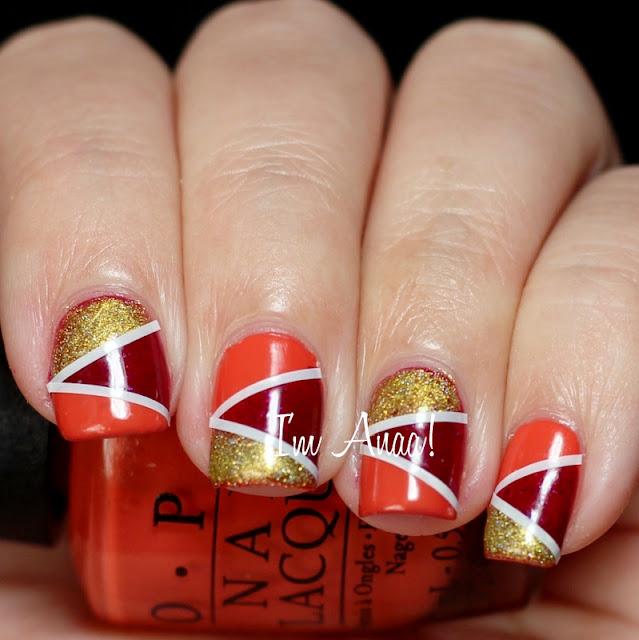Tuesday Nail Polish: 1st Tri Polish Tuesday: Red, Orange, Yellow