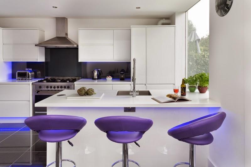 Projeto de uma cozinha Para maximizar a luz