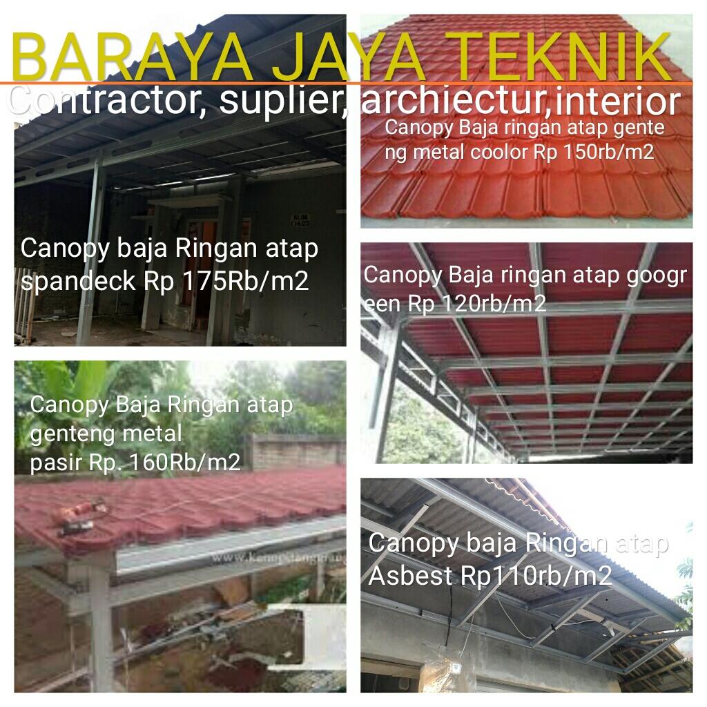 atap baja ringan karawang kanopi bajaringan murah spesialis pemasangan konstruksi rangka
