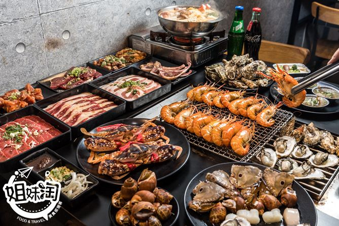 現撈泰國蝦/巨無霸鳳螺/生啤酒無限量供應!-野饌燒肉活泰國蝦吃到飽