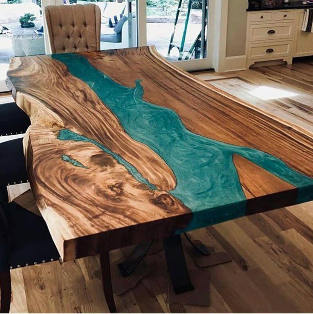 50 Epoxy River Table Designs For Unusual Interior