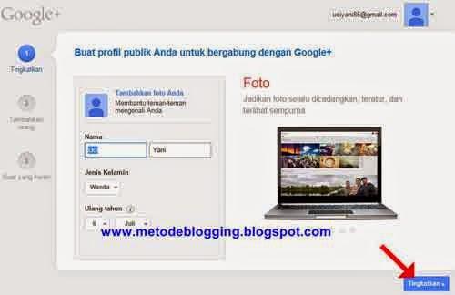 Buat profil publik untuk bergabung dengan google plus